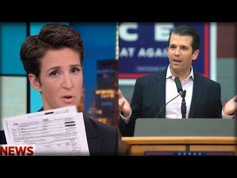 AFTER RELEASING TRUMP TAX RETURNS, DONALD JR SENT RACHEL MADDOW A MESSAGE SHE WILL NEVER FORGET! - YouTube