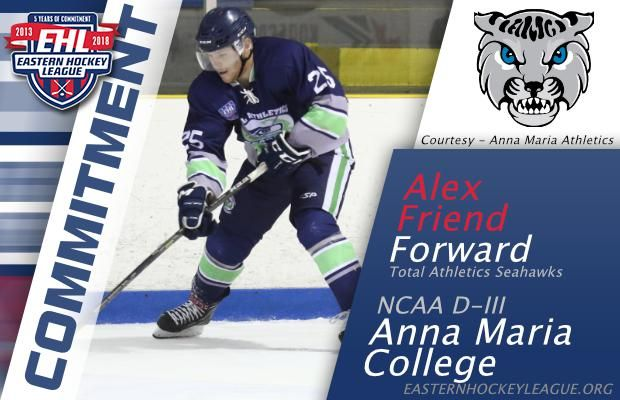 Friend Commits To Anna Maria College College Hockey College League