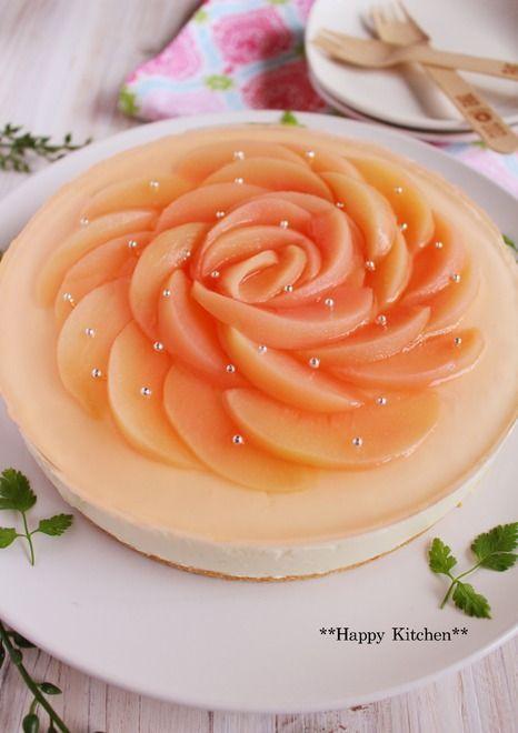意外と簡単!缶詰の白桃で作るヨーグルトチーズケーキ   たっきーママ オフィシャルブログ「たっきーママ@Happy Kitchen」Powered by Ameba