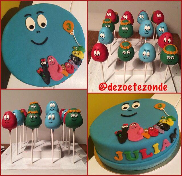 Barbapapa cakepops and cake