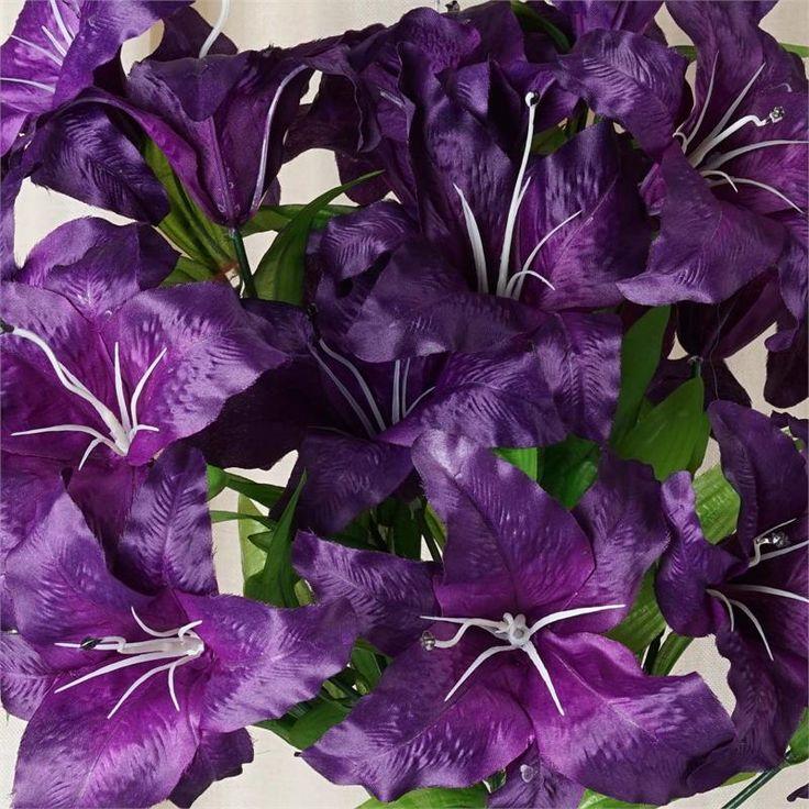 54 supersized casa blanca lilies purple efavormart
