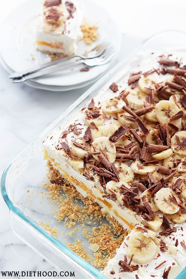 No Bake Banana Split Cheesecake