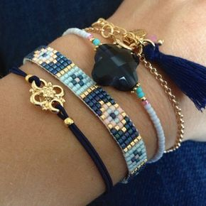 Good idea for combining thin bracelets when you don't have enough beads for one big bracelet.