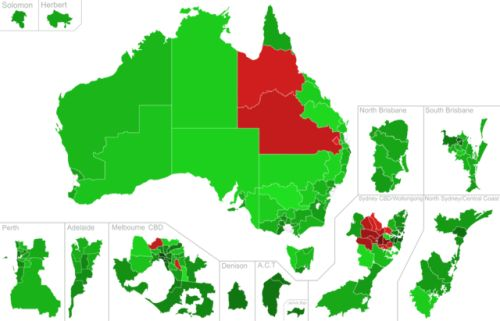 Results of the 2017 Australian Marriage Law Survey by electorate.