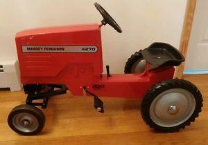 Ertl-Farm-Toy-Ride-On-Pedal-Tractor-Massey-Ferguson-4270-Rare