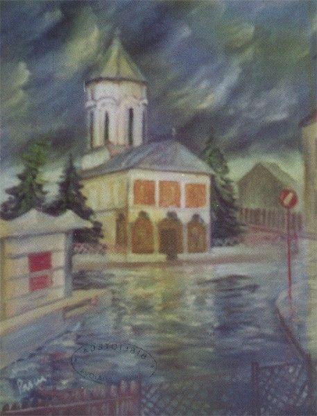 Alexandru Pascu - Imagini craiovene - painting in full format at www.iCraiova.com