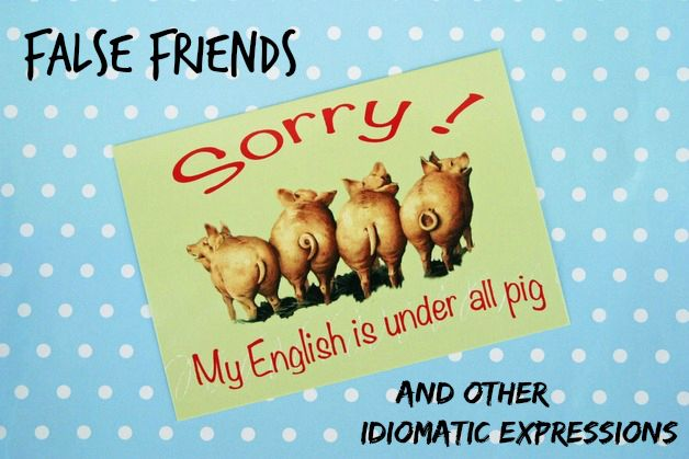 {False Friends or My English is under all Pig!} German-English Edition  #blogtober #languages