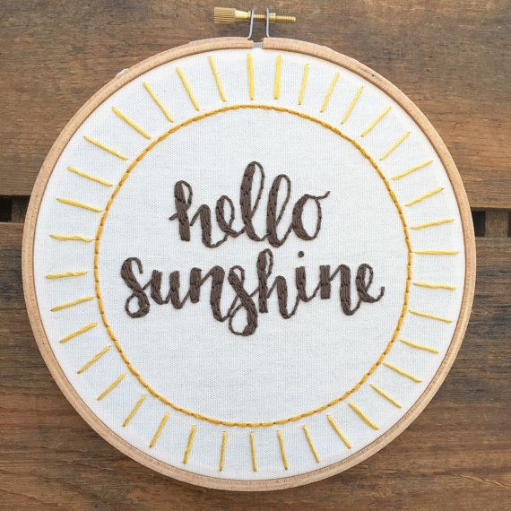 SHIPS AFTER CHRISTMAS Hello Sunshine by bugandbeanstitching