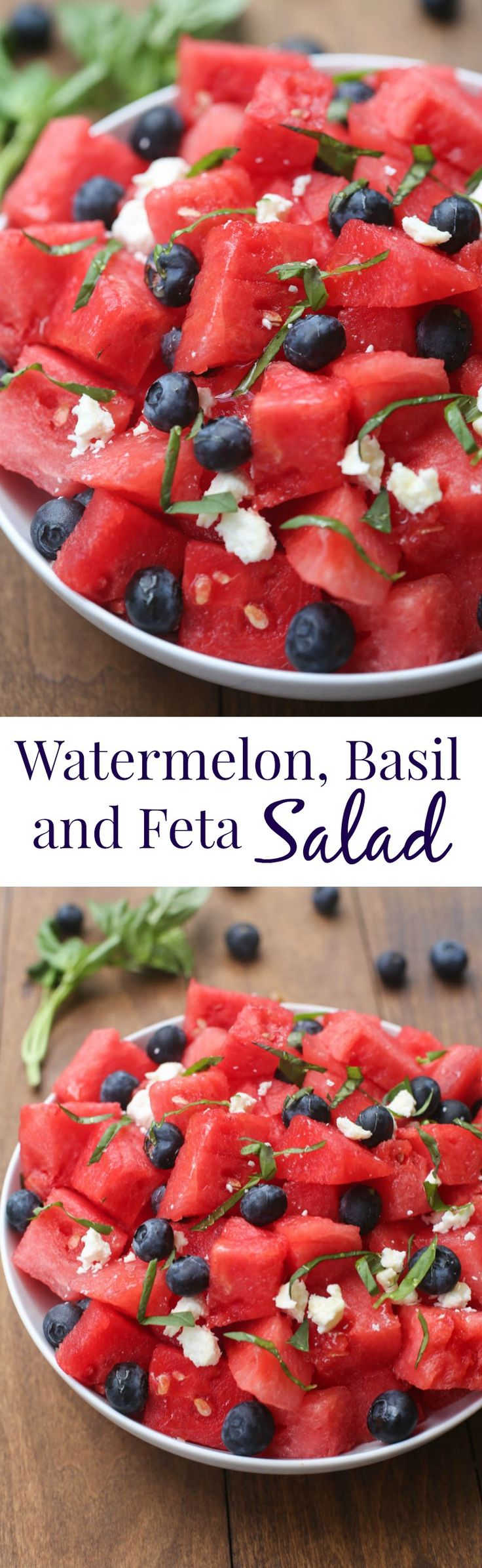 Watermelon, Basil and Feta Salad   Tastes Better From Scratch