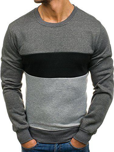 4f0b7ac7fc8b  mode  ootd  outfit  fashion  style  online  BOLF Herren Sweatshirt  Rundhalsausschnitt Pullover Farbwahl sportlicher Stil J.STYLE …