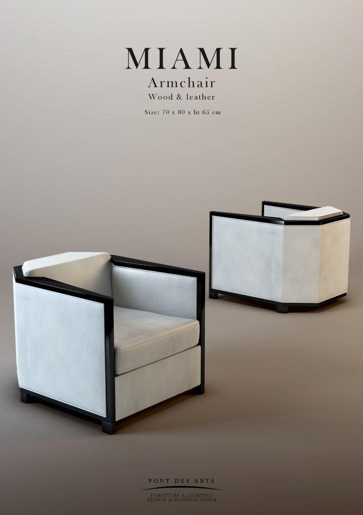 Miami Armchair - Pont des Arts - Designer Monzer Hammoud - Paris-
