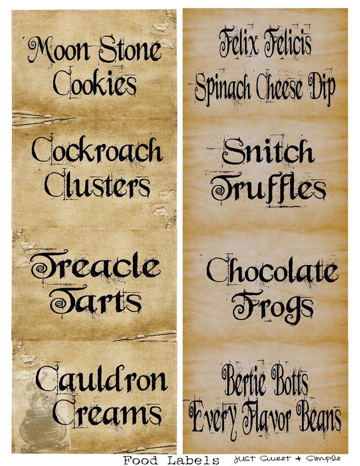 Harry Potter Food Amp Drink Labels Harry Potter Stuff