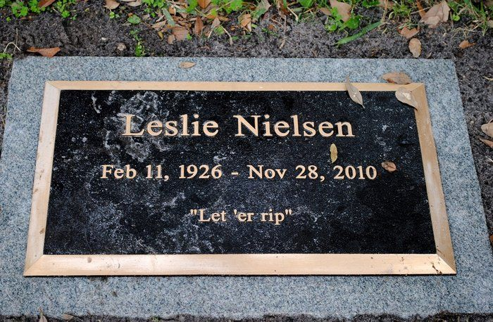 """Leslie Nielsen (1926 - 2010) He started his acting career in more serious roles, including the movie """"Forbidden Planet"""", but later specialized in spoofs and satires, including """"Airplane!"""", """"Naked Gun"""", and """"Spy Hard"""""""