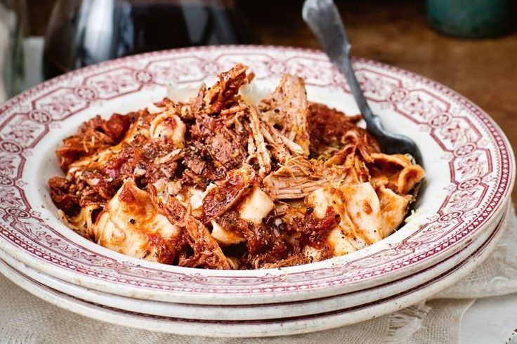 """""""I find this pork ragu best for a Saturday night dinner party or a late Sunday lunch as you can leave the meat to slow-roast all day without any effort on your part."""" - Katie Quinn Davies"""