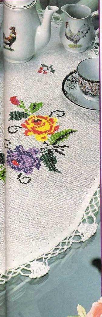 شغل ابره NEEDLE CRAFTS: مفارش ايتامين بحروف كروشيه - cross stitch & crochet doilies' patternLucru Manual, Crochet Edging, Needle, Croche Edging, Crosses Stitches, Crochet Fabric, Crochet Doily Patterns, Cross Stitches, Crochet Doilies Pattern