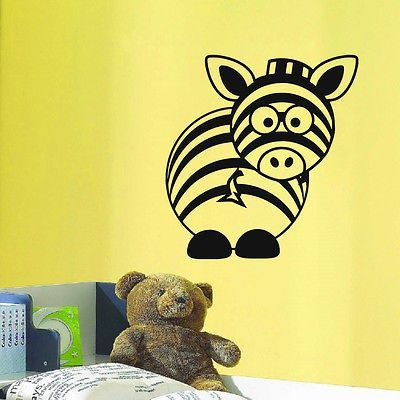 WALL DECAL VINYL STICKER WILD ANIMAL ZEBRA AFRICA BABY ROOM NURSERY DECOR SB460