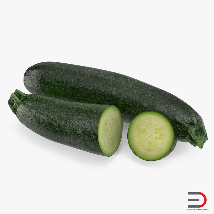 3D Zucchini Collection