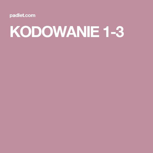 KODOWANIE 1-3