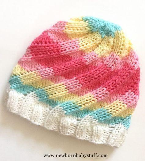 Baby Knitting Patterns Baby Knitting Patterns Free Knitting Pattern for Swirl Hat -...