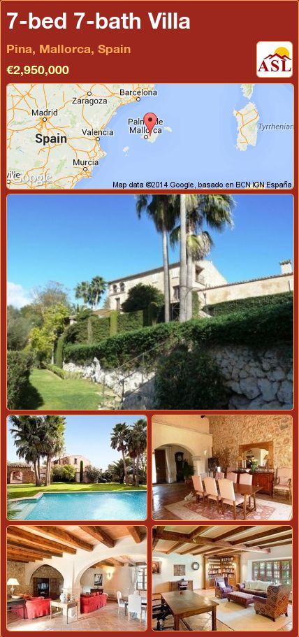7-bed 7-bath Villa in Pina, Mallorca, Spain ►€2,950,000 #PropertyForSaleInSpain