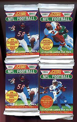 1991 Score Football 30 Wax Pack Series 2 6 Ser 1 = Box Brett Favre Rookie Card