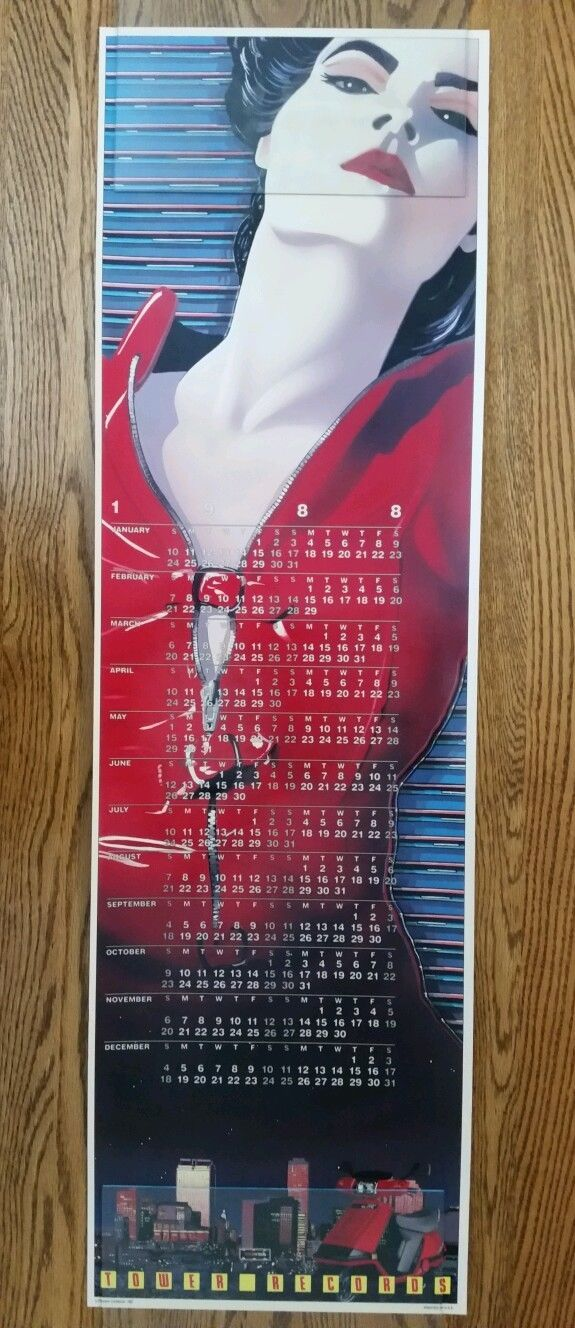 1988 Tower Records Calendar Art by Frank Carson See Photos ...