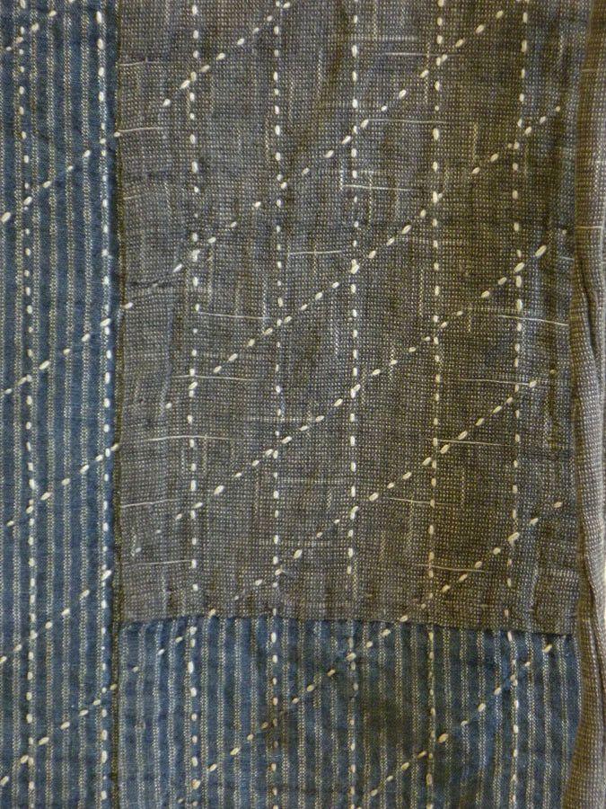 Sri | A Sashiko Stitched Maekake: Rustic Apron