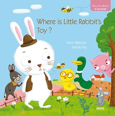 Where Little is Little Rabbit's toy hidden?  Little Rabbit is very sad. He lost his favorite cuddly toy. He looked everywhere and can't find it! Fortunately, all his friends will help him look for it. Where did the cuddly toy hide?  My Baby Stories series deals with toddlers' everyday themes (friendship, animals). Using bright colors and feel and touch elements, these books will help kids to understand the world around them.