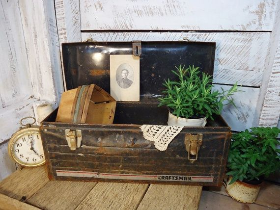 Old Metal Tool Box - Not Just for Tools Anymore!