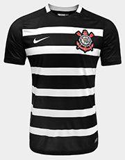 Garanta a Camisa Nike Corinthians II 2015 s/nº - Jogador e exiba com orgulho as cores do Timão. Perfeita para celebrar as conquistas do Alvinegro e estampar a grandeza dessa torcida nas arquibancadas.