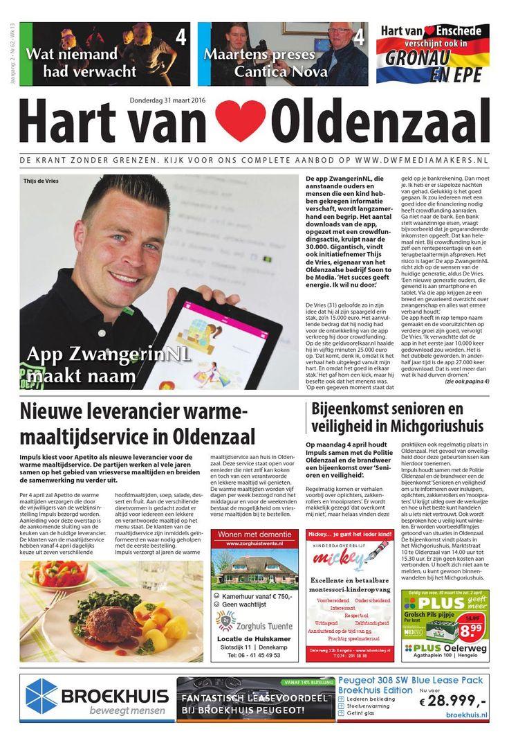 Hart van Oldenzaal 062  Hart van Oldenzaal 062 wk13, de leukste lokale krant van Oldenzaal!