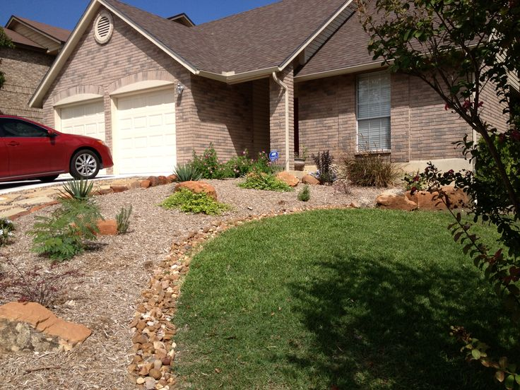 front yard xeriscaping by raul perez landscaping san. Black Bedroom Furniture Sets. Home Design Ideas