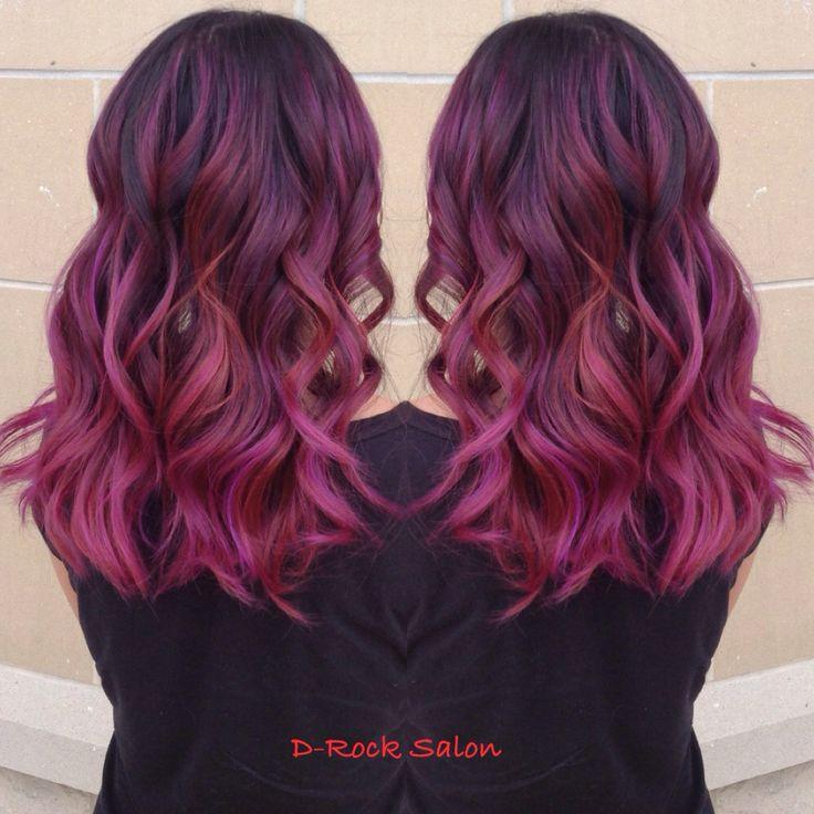 Best 25 red purple hair color ideas on pinterest burgundy hair rose purple color melt hair color 2015 ombr red purple balayage purple urmus Images