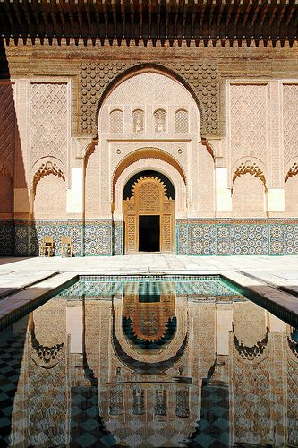 The Ben Youssef Madrasa in Marrakech, Morocco,