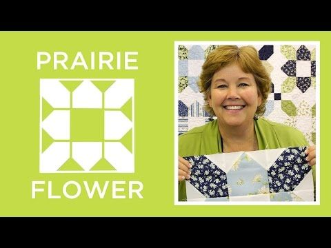 Make an Easy Prairie Flower Quilt with Jenny! - YouTube