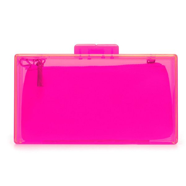 Zara Neon Box Clutch ($36) ❤ liked on Polyvore
