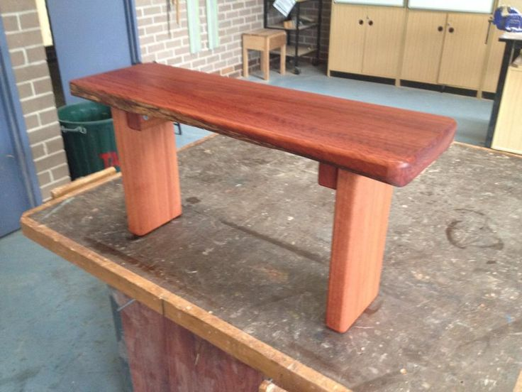 Blue gum bench or side table