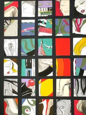 "Saatchi Art Artist Roberto Corso; Collage, ""WINDOWS"" #art"