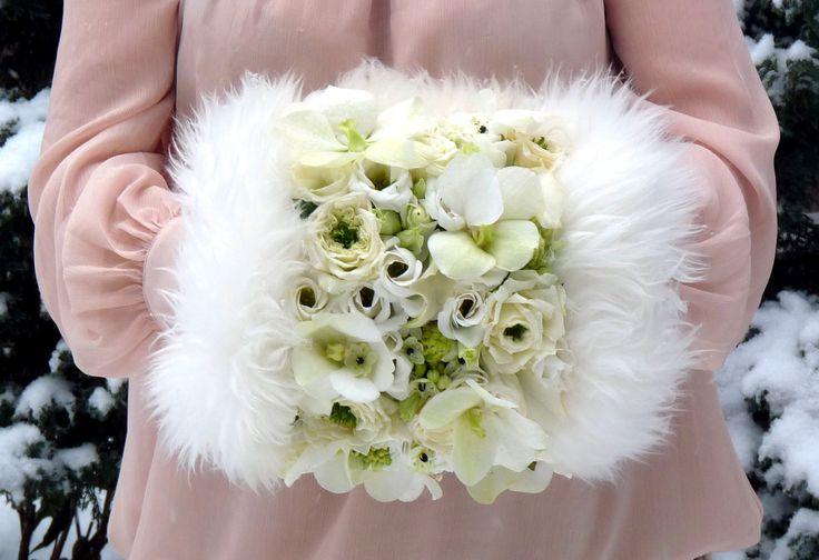 floral muff  www.kompozycjekwiatowe.com