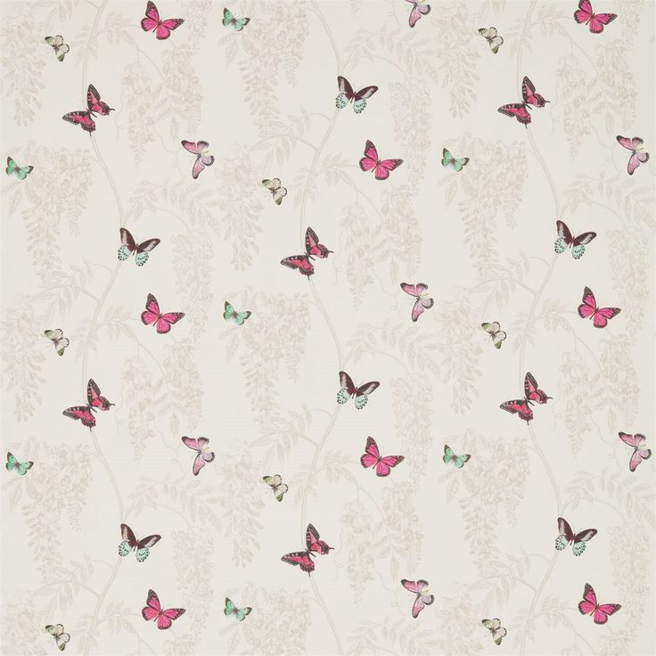 Wisteria U0026 Butterfly Fabric By Sanderson Part Of Woodland Walk Collection