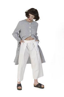 The Classic Shirt, Reworked! Shop this look on http://cajun.ro/ #lucianrusu,#crinabulprich,#oanagalmati, #fashion, #stretstyle,#urbanlook,#minimalism, #romaniandesigners