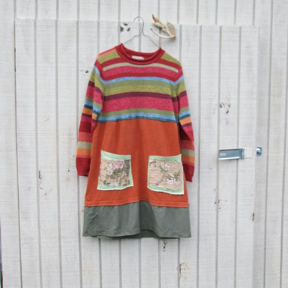 funky upcycled clothing / dress