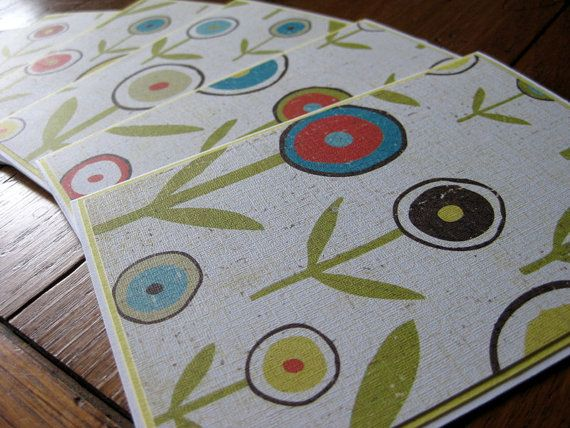 Big Bold Flowered Stationery with by designsbybeccashop on Etsy
