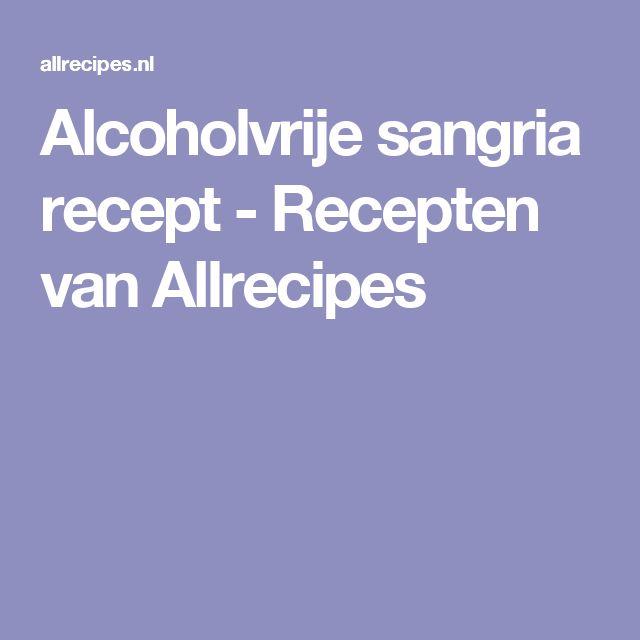 Alcoholvrije sangria recept - Recepten van Allrecipes