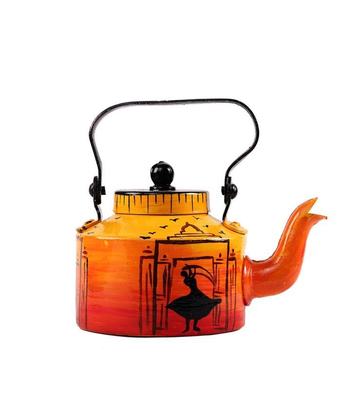 Kettle - Designer Tea / Coffee Pot - Dance Of Hope - By Rangrage