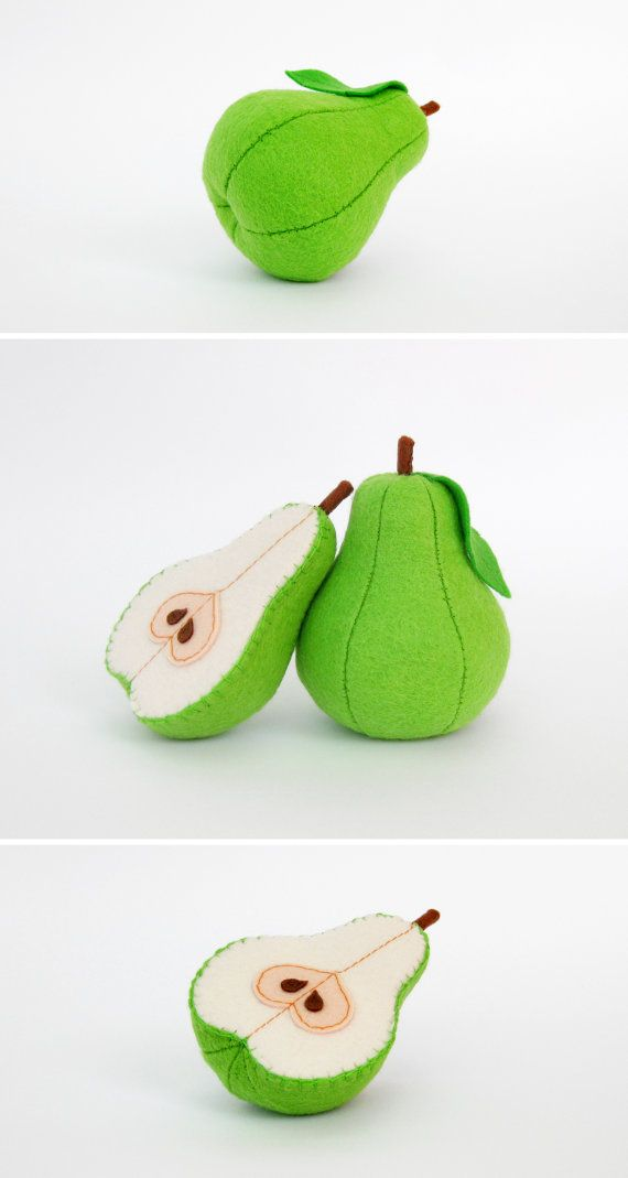 Felt play food Pear light green by MyFruit I suggest you to buy realistic…