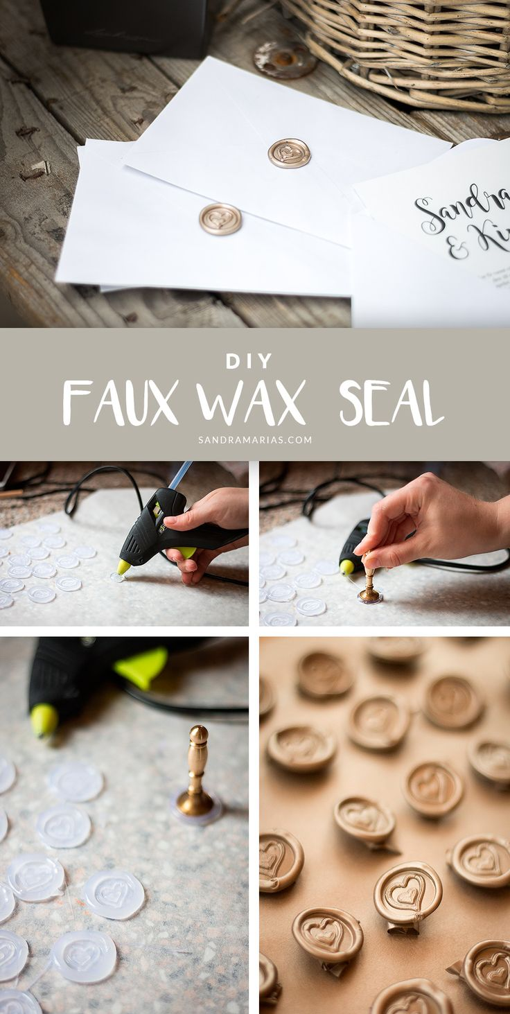 DIY Faux wax seal | Hot glue seal | Sandramarias.com