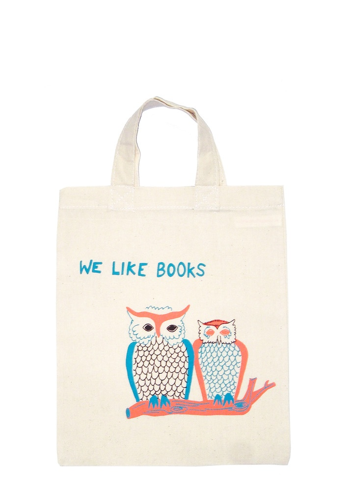We Like Books mini tote from http://www.totesamazed.co.uk £8.00