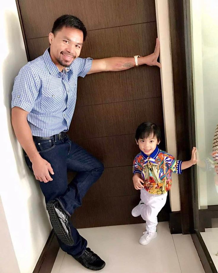 "35.9k Likes, 135 Comments - Manny Pacquiao (@mannypacquiao) on Instagram: ""Like father like son."""