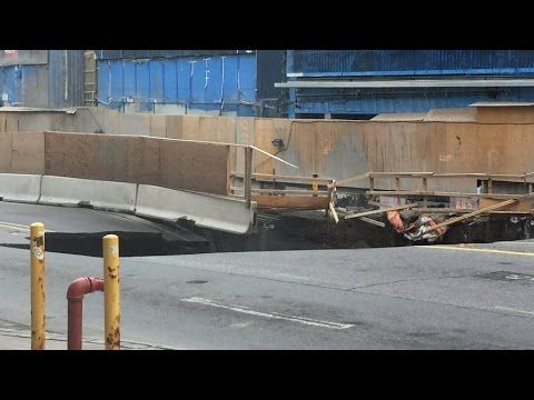 Enormous sinkhole devours Rideau Street in downtown Ottawa videos - Strange Sounds